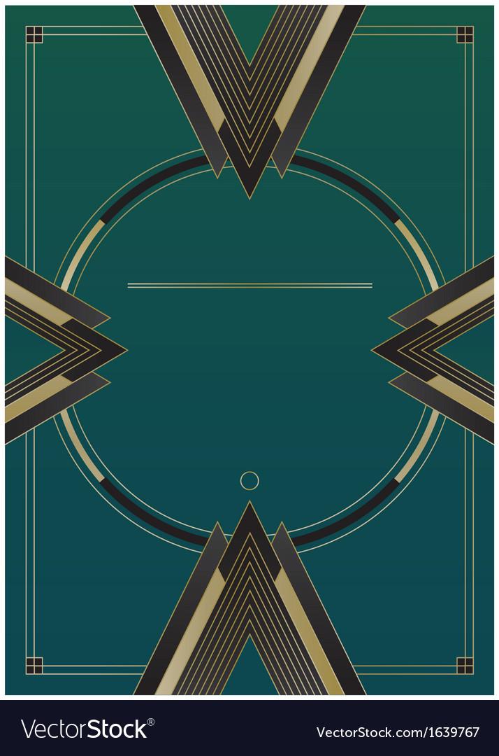 Arrows art deco background vector | Price: 1 Credit (USD $1)
