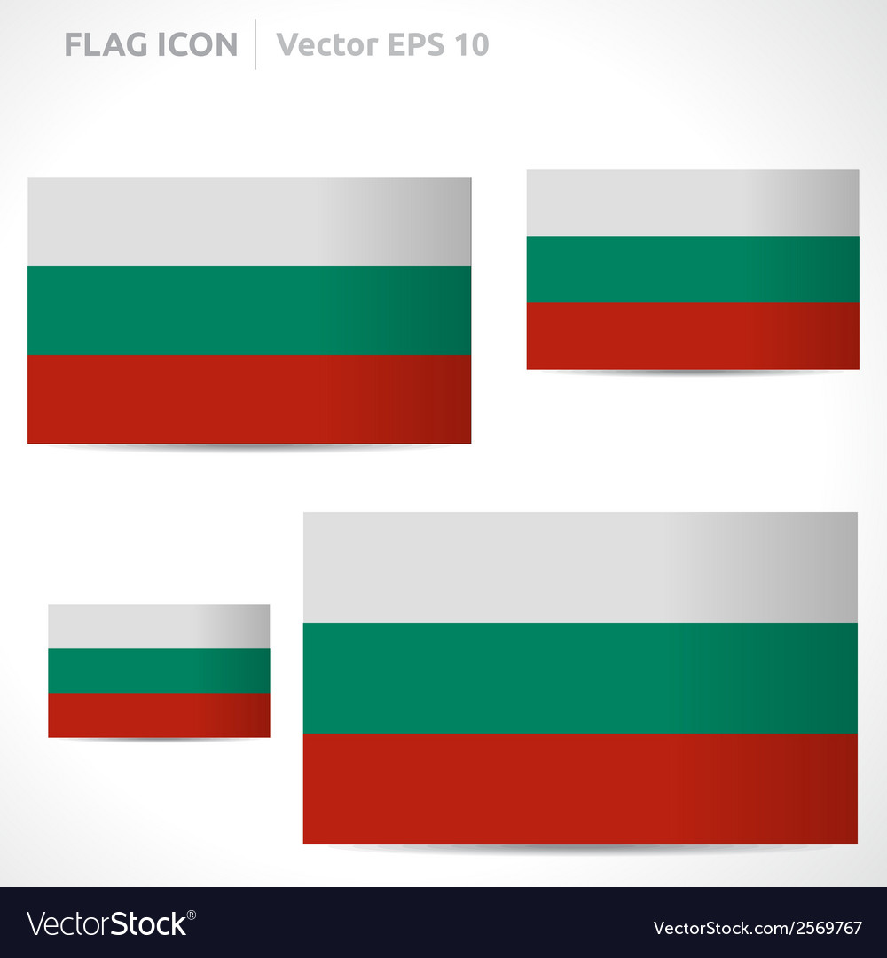 Bulgaria flag template vector | Price: 1 Credit (USD $1)