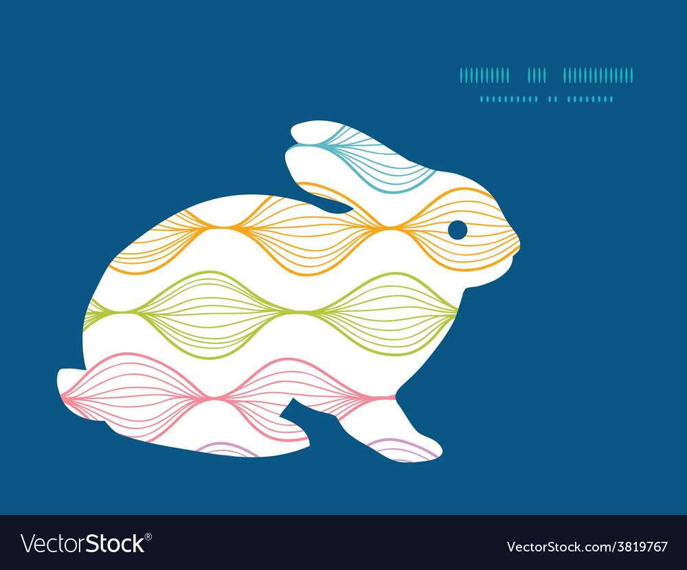 Colorful horizontal ogee bunny rabbit vector | Price: 1 Credit (USD $1)