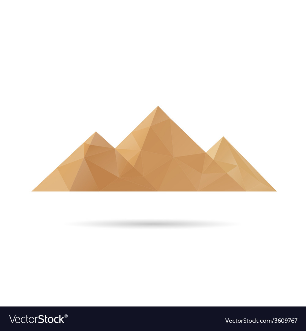 Egypt pyramids icon vector | Price: 1 Credit (USD $1)