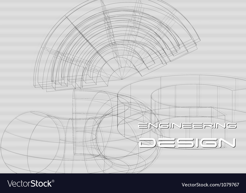Hi-tech engineering background vector | Price: 1 Credit (USD $1)