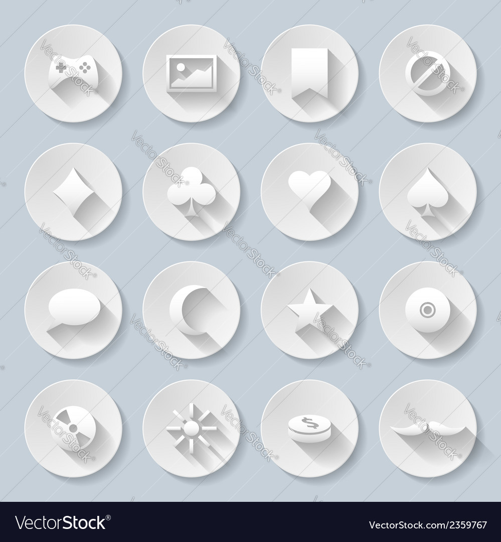 Paper icons vector   Price: 1 Credit (USD $1)