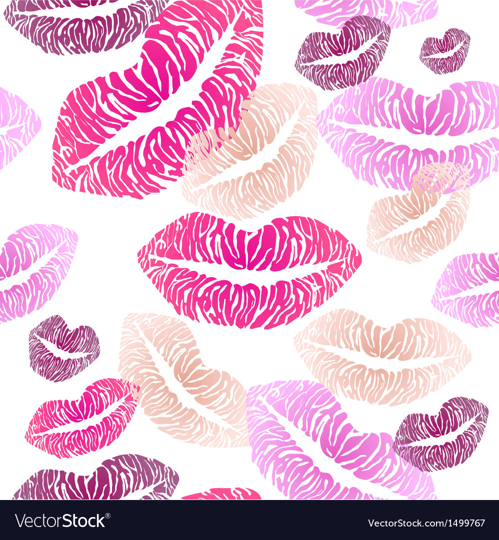 Seamless pattern with lips vector | Price: 1 Credit (USD $1)