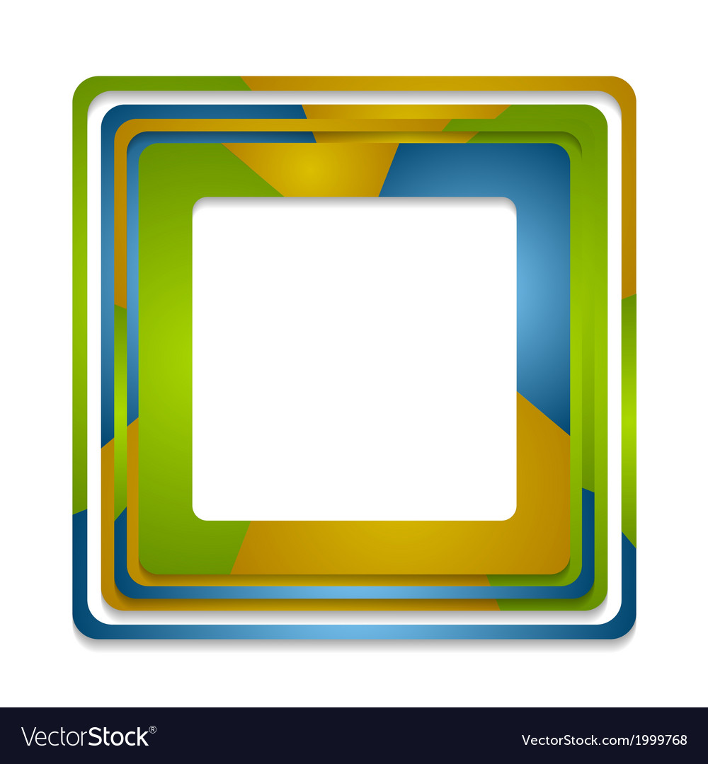 Abstract squares logo background vector | Price: 1 Credit (USD $1)