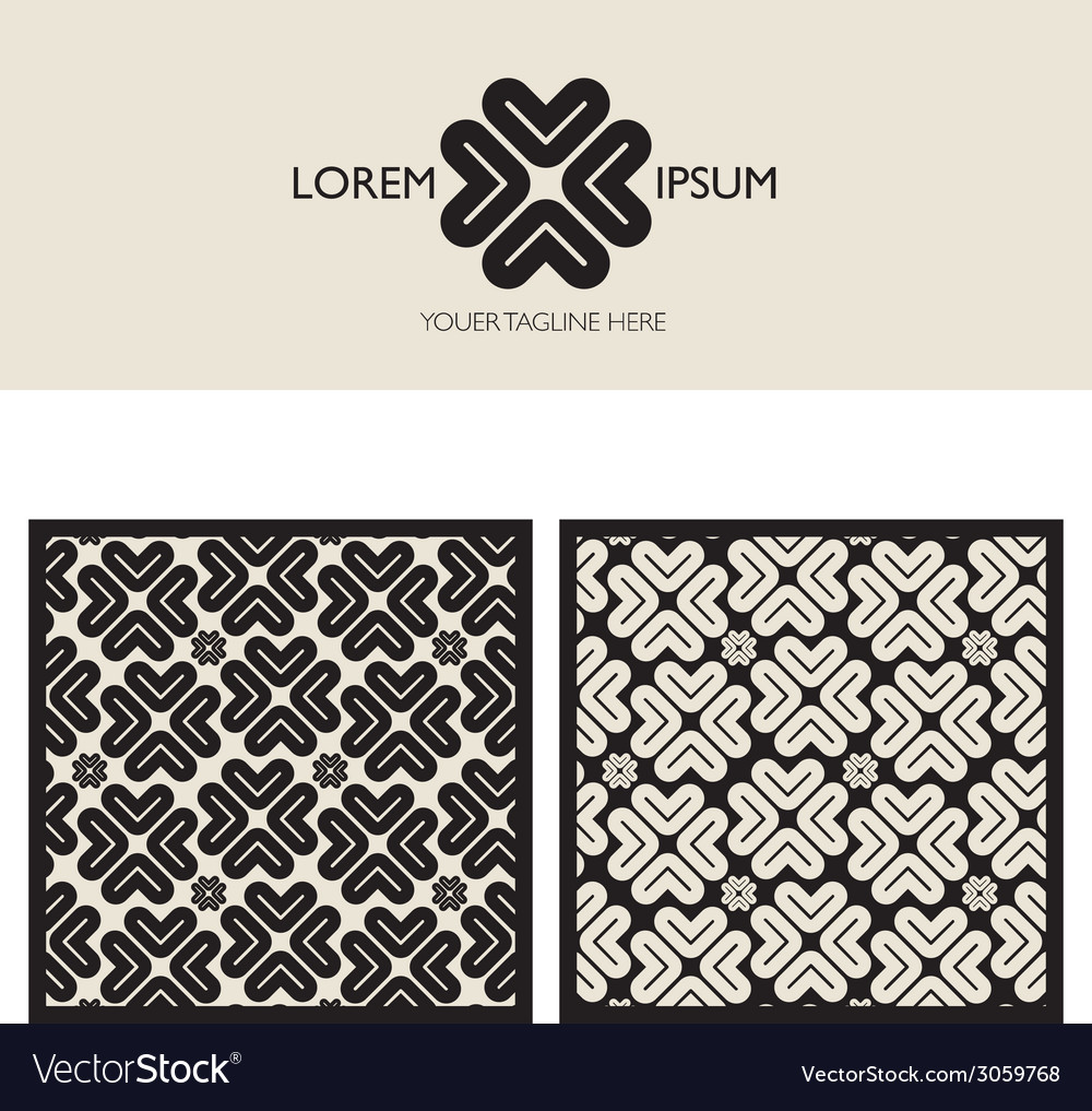 Brand element and patterns vector | Price: 1 Credit (USD $1)