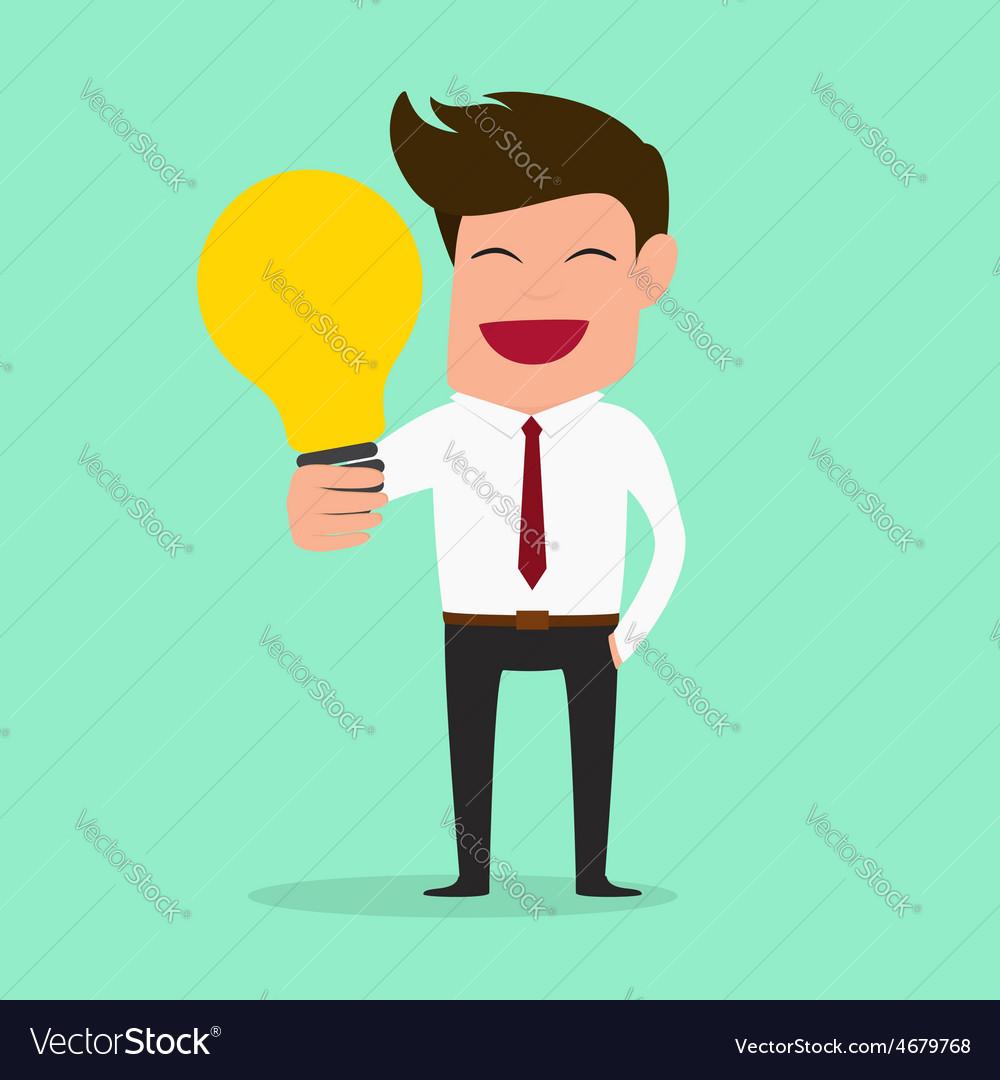 Businessman have idea idea concept vector | Price: 1 Credit (USD $1)