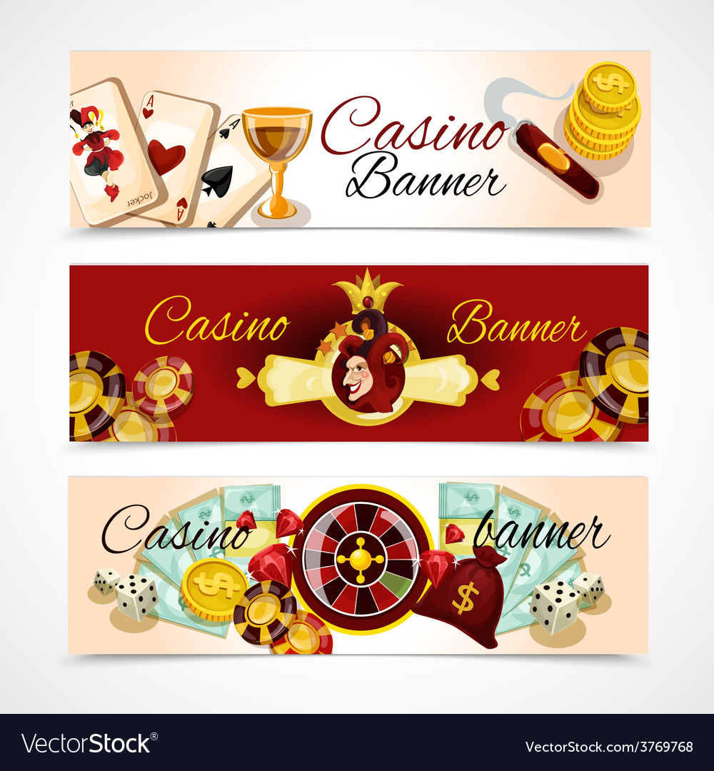 Casino banner set vector | Price: 3 Credit (USD $3)