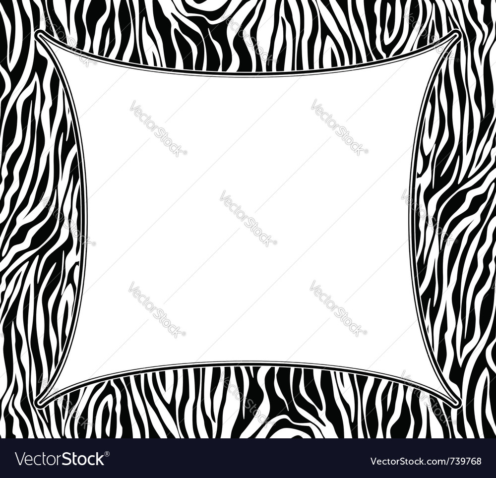 Frame with abstract zebra skin texture vector | Price: 1 Credit (USD $1)