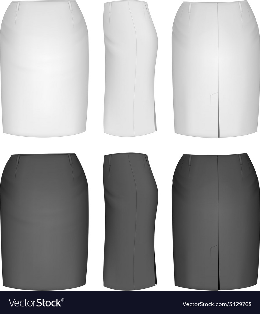 Ladies skirt for business women vector | Price: 1 Credit (USD $1)