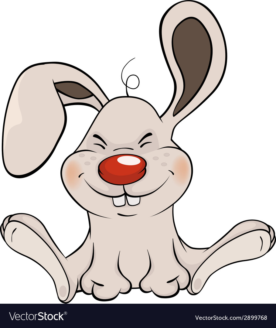Little rabbit cartoon vector | Price: 1 Credit (USD $1)