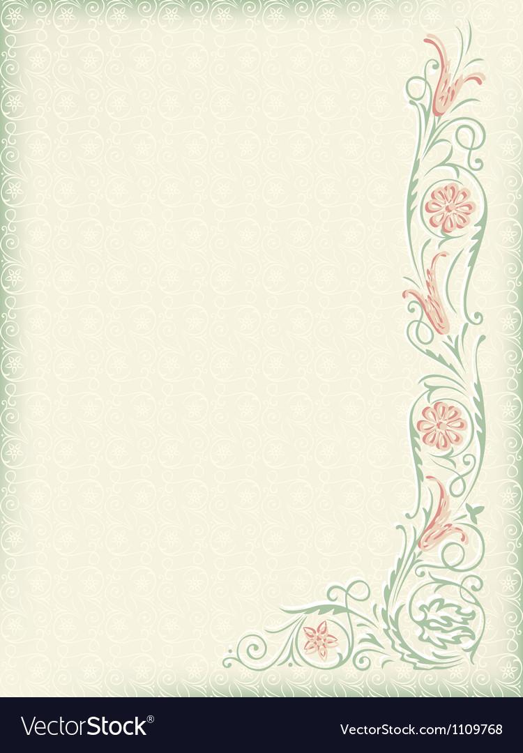 Ornamental floral wedding background vector