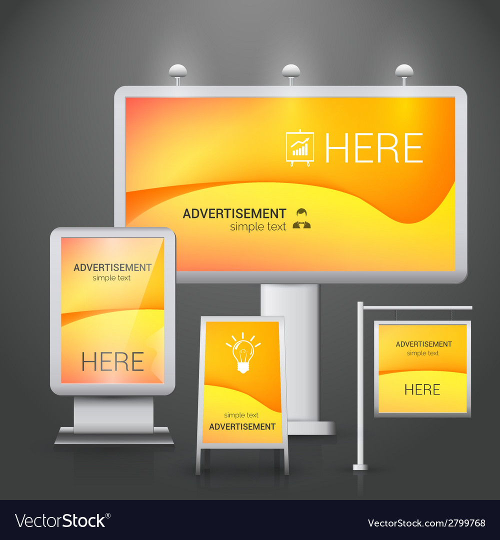 Outdoor advertising design vector | Price: 1 Credit (USD $1)