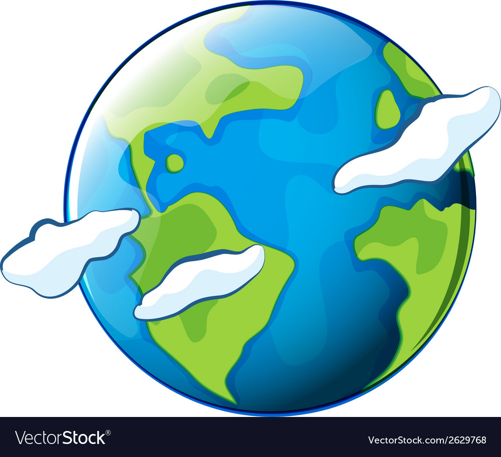 The planet earth vector | Price: 1 Credit (USD $1)