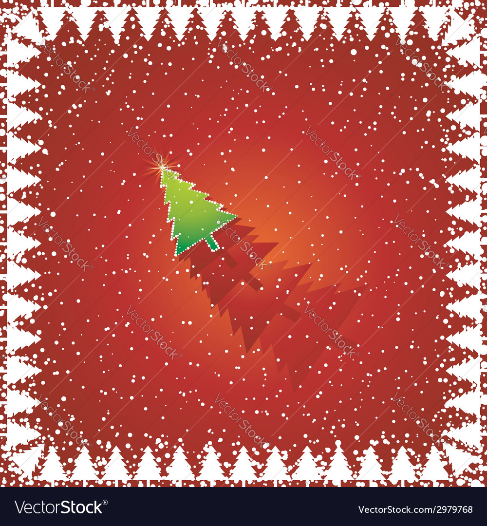 Red christmas card vector | Price: 1 Credit (USD $1)