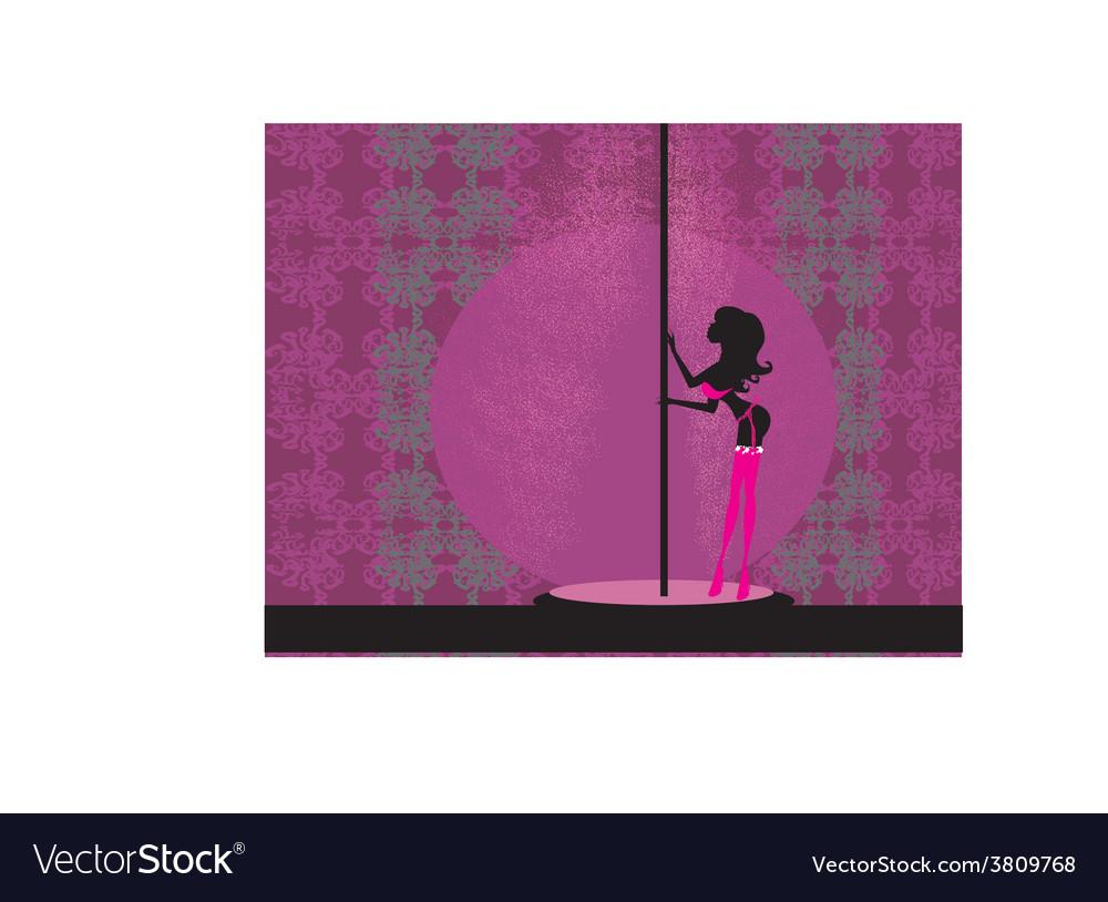 Sexy female pole dancing vector | Price: 1 Credit (USD $1)