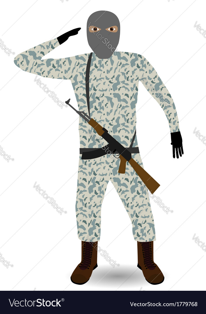 Soldier with rifle vector | Price: 1 Credit (USD $1)