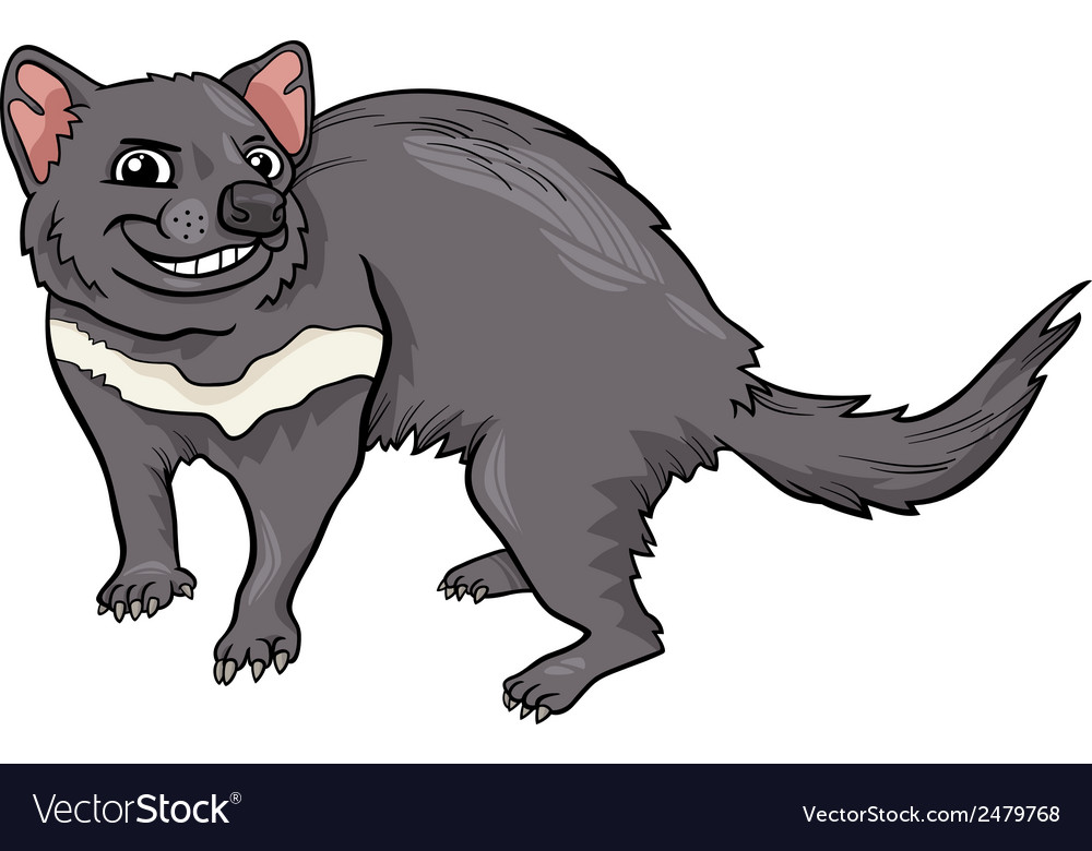 Tasmanian devil cartoon vector | Price: 1 Credit (USD $1)