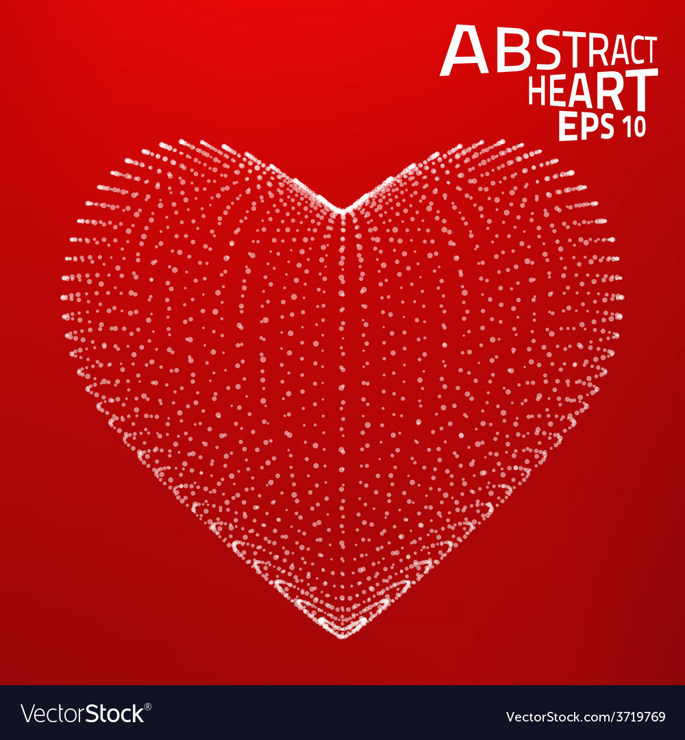 Abstract heart background lines point vector | Price: 1 Credit (USD $1)