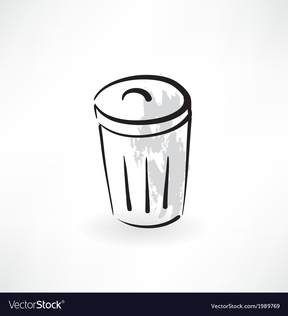 Bin grunge icon vector | Price: 1 Credit (USD $1)