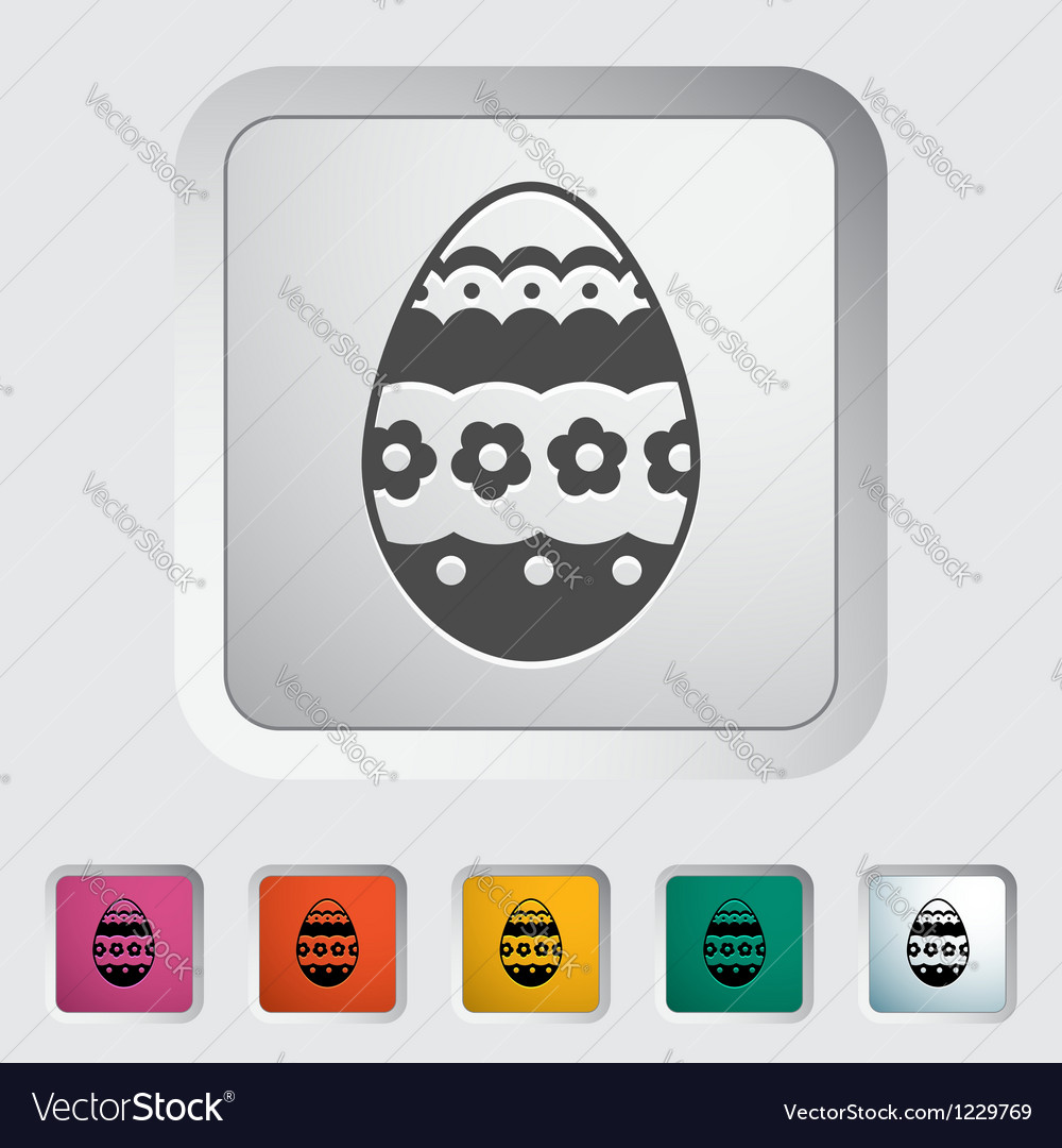 Easter egg single vector | Price: 1 Credit (USD $1)