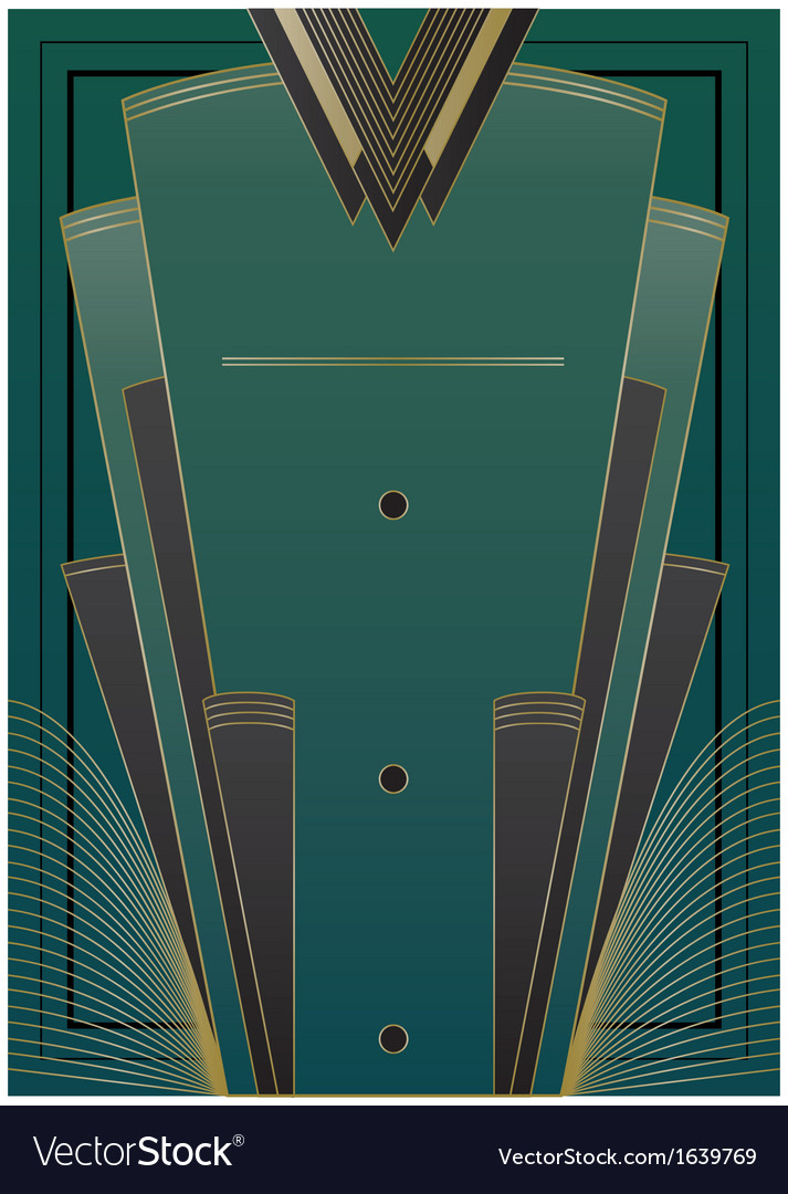 Fans art deco background vector