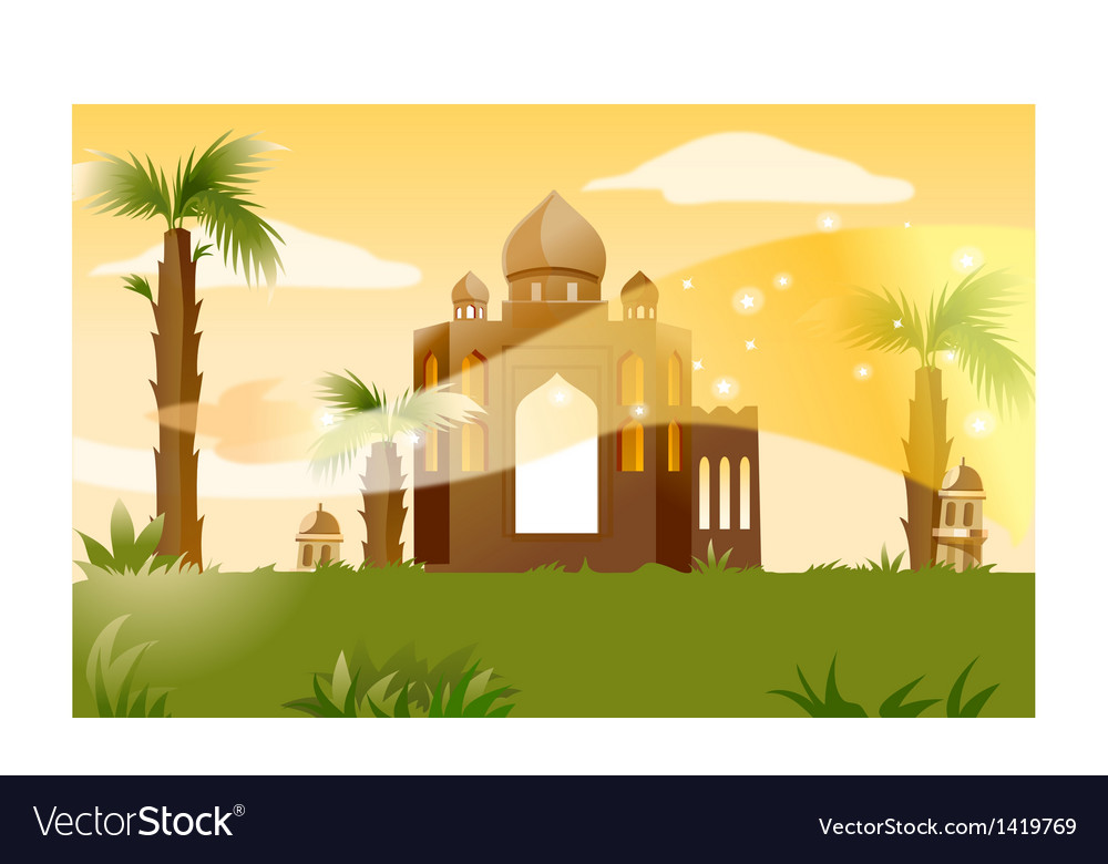 Indian building background vector | Price: 1 Credit (USD $1)