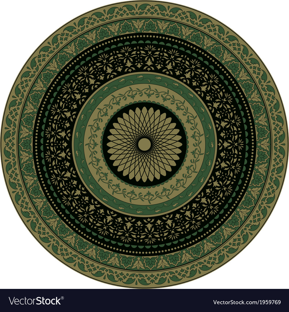 Ornamental round floral pattern vector | Price: 1 Credit (USD $1)