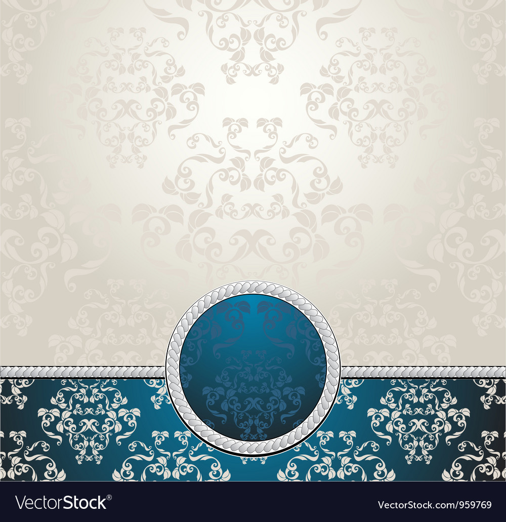 Set seamless patterns with flowers in victorian vector | Price: 1 Credit (USD $1)