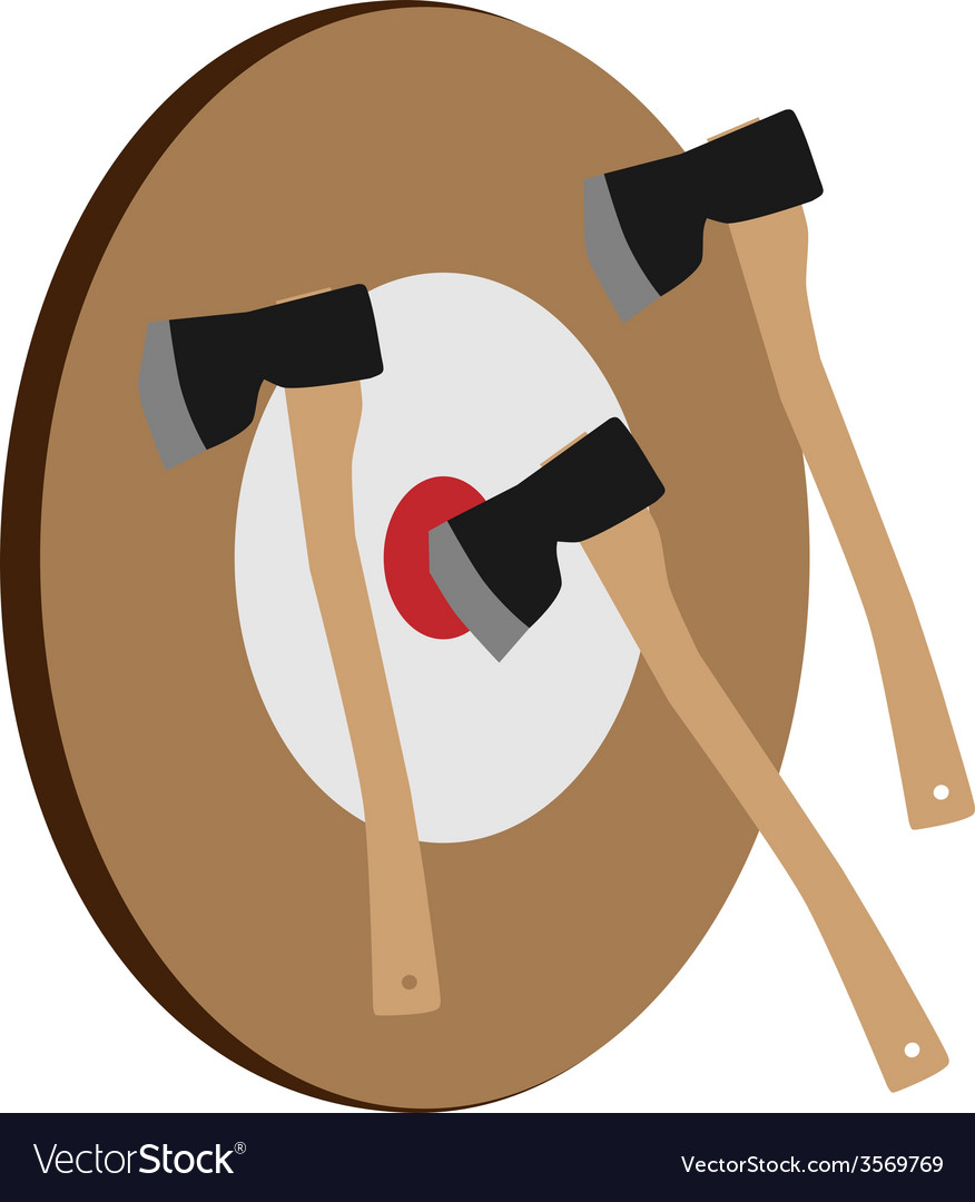Throwing axe target vector | Price: 1 Credit (USD $1)