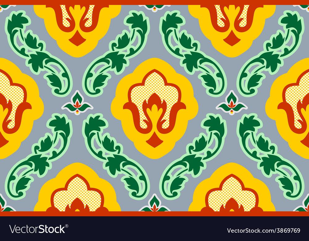 Vintage background floral pattern vector | Price: 1 Credit (USD $1)