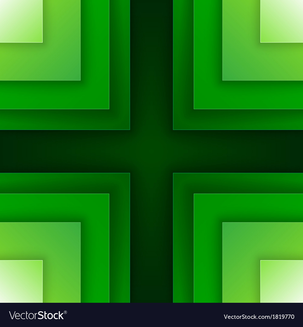 Abstract green triangle shapes background vector | Price: 1 Credit (USD $1)
