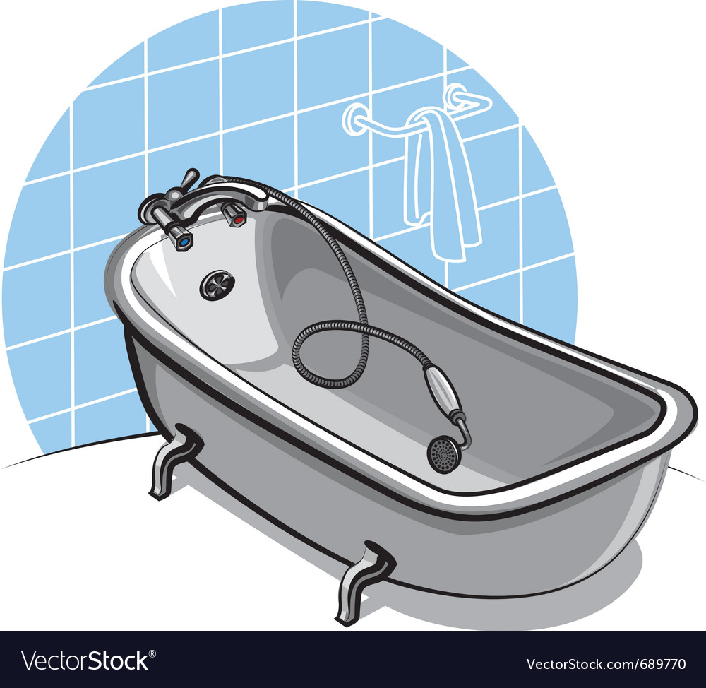 Bathtub vector | Price: 3 Credit (USD $3)