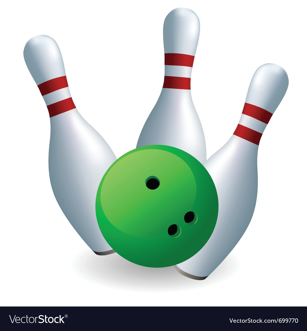 Bowling skittles vector | Price: 1 Credit (USD $1)