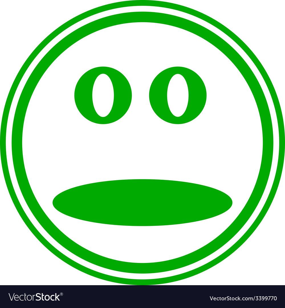 Face circle button vector | Price: 1 Credit (USD $1)