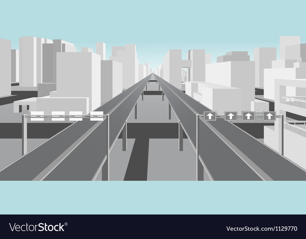 Highways and roads in a modern city vector | Price: 1 Credit (USD $1)