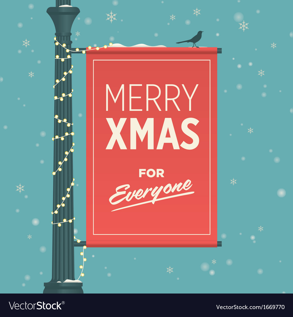 Merry christmas for everyone vector | Price: 1 Credit (USD $1)