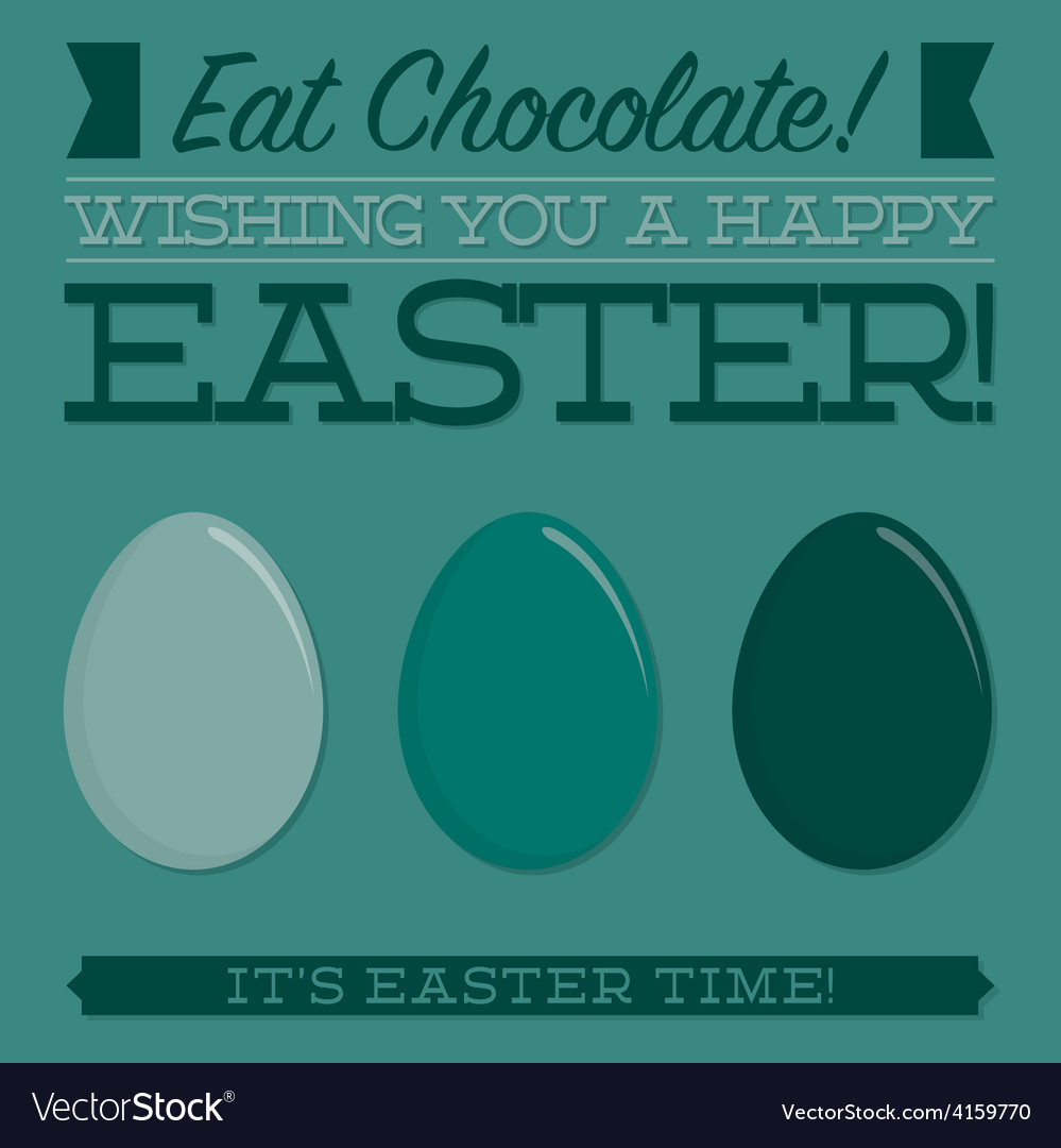 Retro style easter typographic card in format vector | Price: 1 Credit (USD $1)
