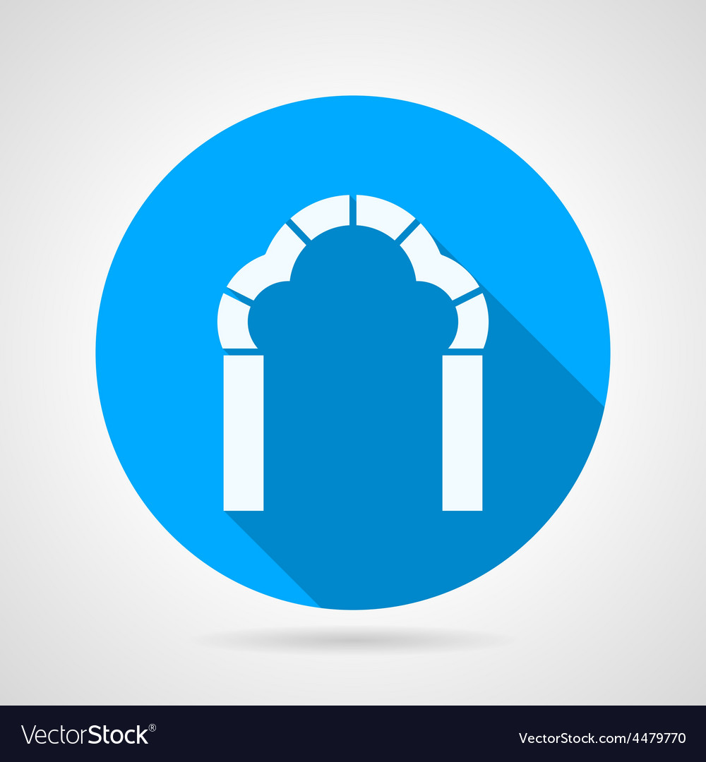 Round flat icon for trefoil arch vector | Price: 1 Credit (USD $1)