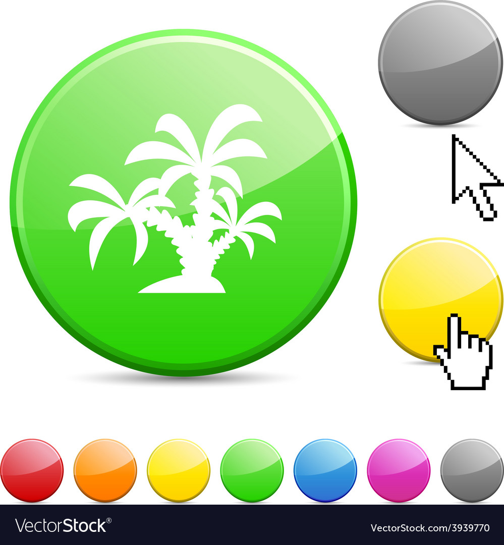Tropical glossy button vector | Price: 1 Credit (USD $1)