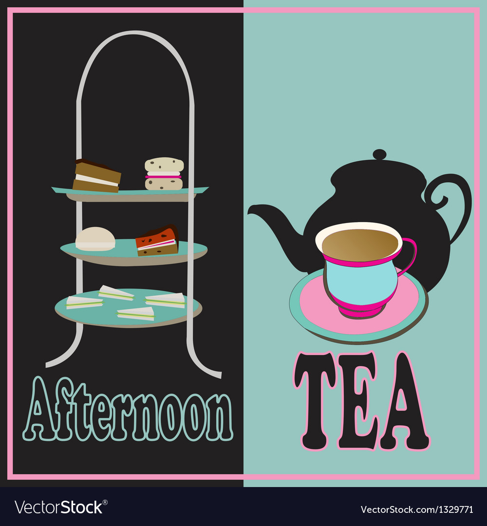 Afternoon tea vector | Price: 1 Credit (USD $1)