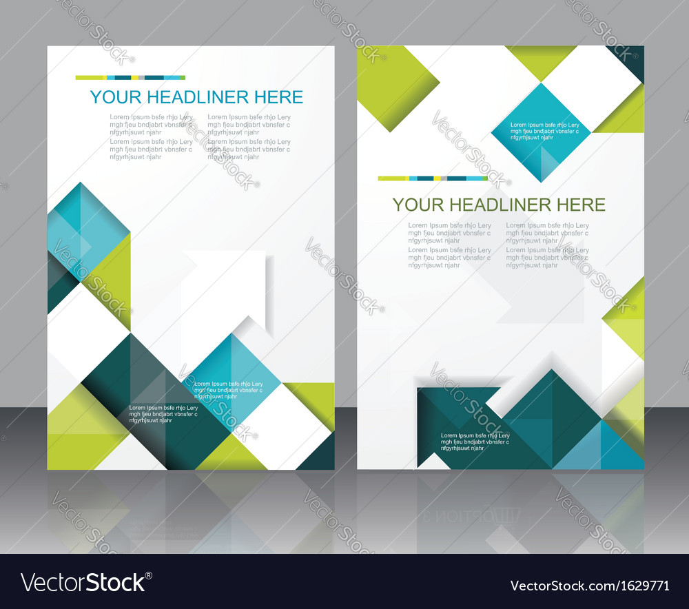 Brochure template design with cubes and arrows vector | Price: 1 Credit (USD $1)