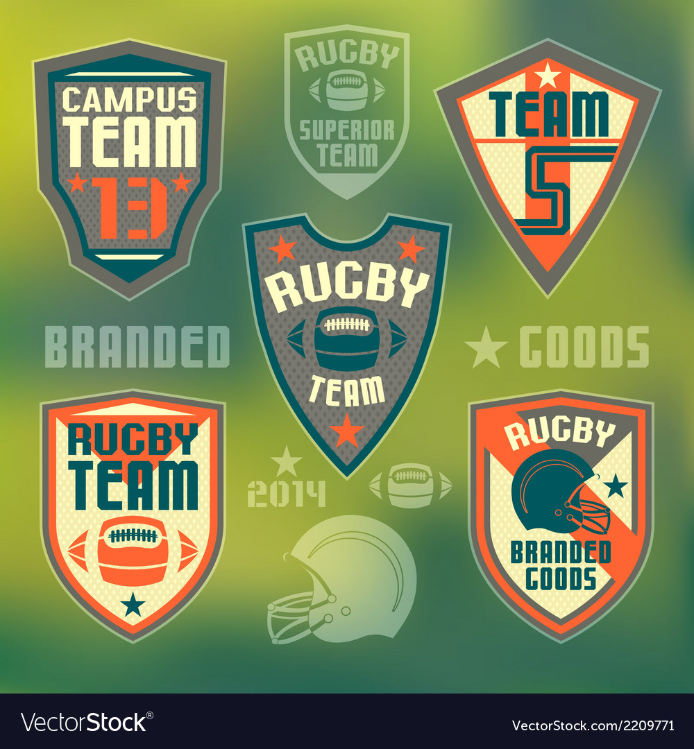 College rugby team vector | Price: 1 Credit (USD $1)