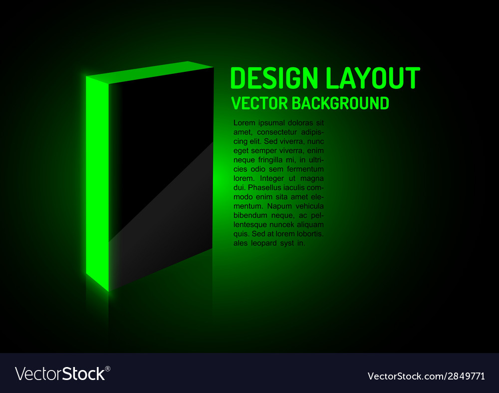Design box green vector | Price: 1 Credit (USD $1)