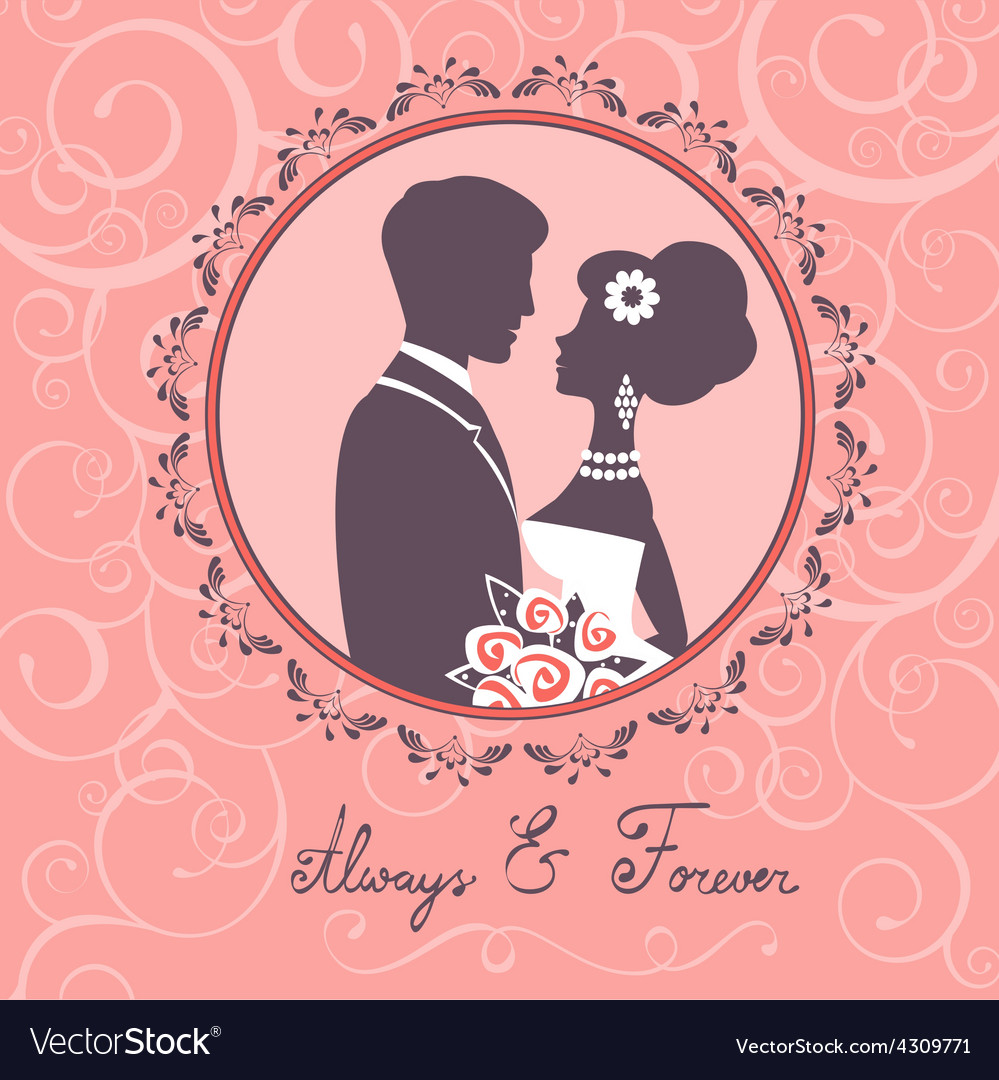 Elegant wedding couple vector | Price: 1 Credit (USD $1)