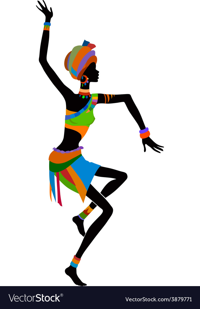 Ethnic dance african woman vector | Price: 1 Credit (USD $1)