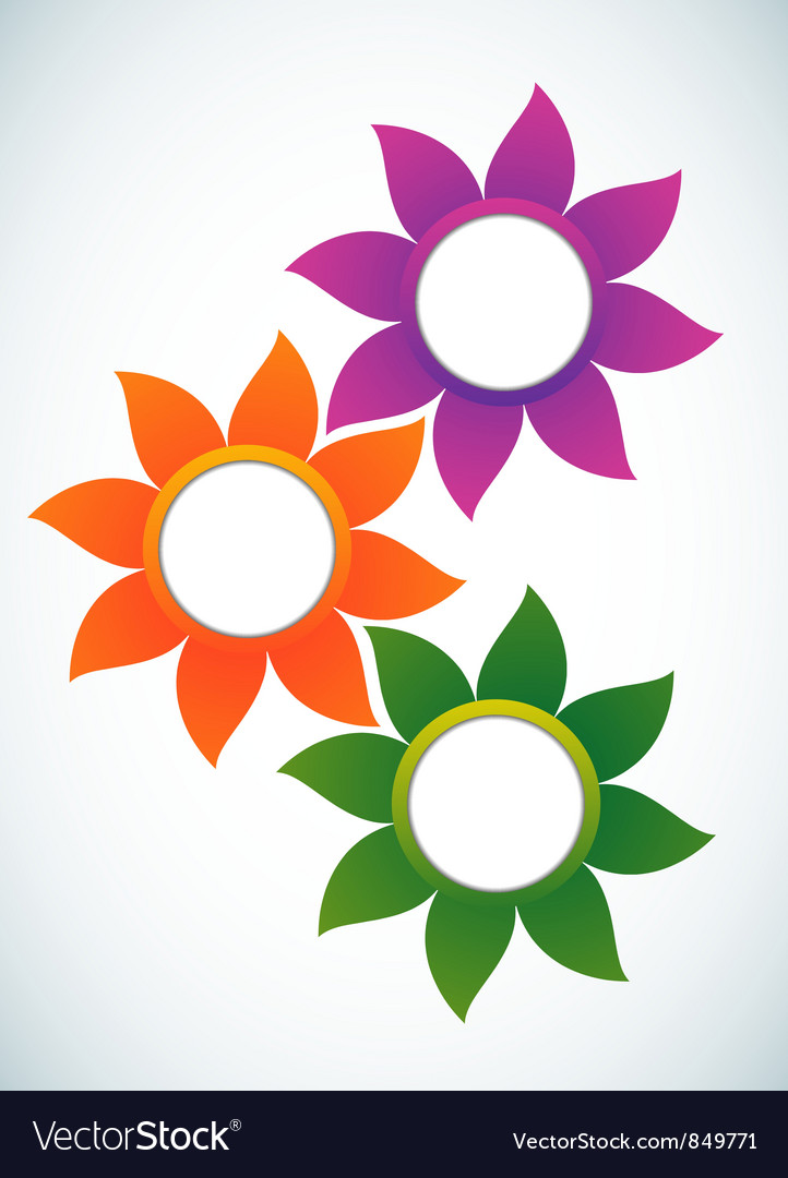 Flower abstract banner vector | Price: 1 Credit (USD $1)