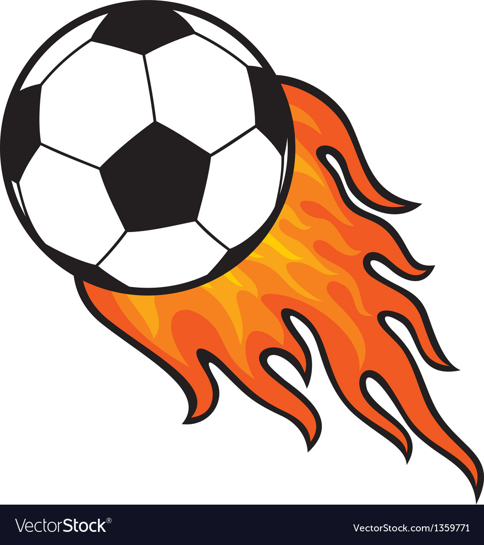 Football ball - soccer in fire vector | Price: 1 Credit (USD $1)
