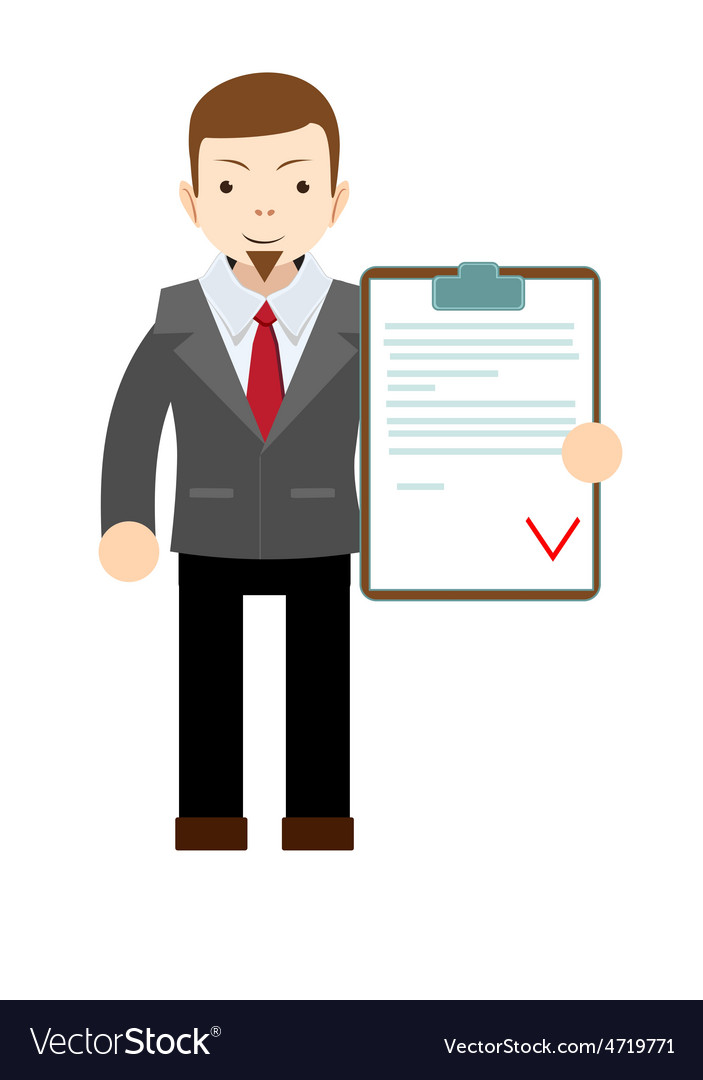 Manager holding the document approved vector   Price: 1 Credit (USD $1)