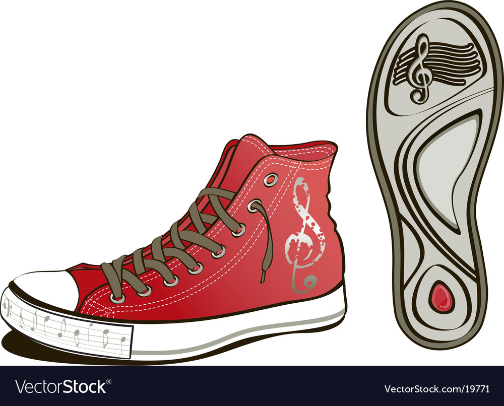 Music shoe vector | Price: 3 Credit (USD $3)