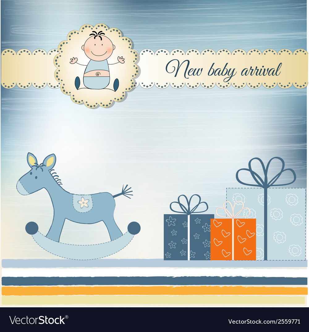 New baby greeting card vector | Price: 1 Credit (USD $1)